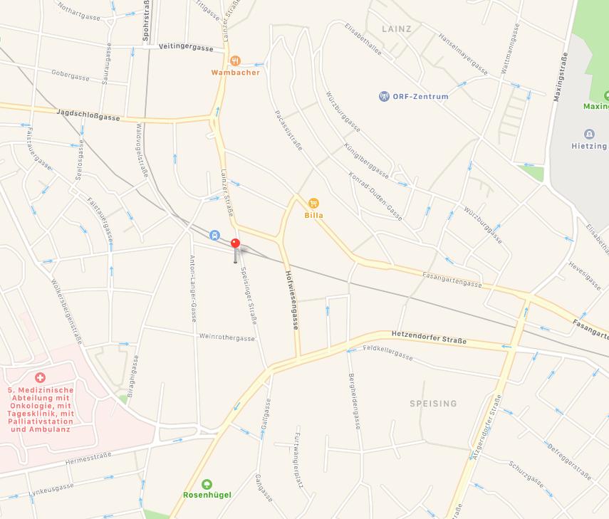 Straßenplan mit Standort Praxis